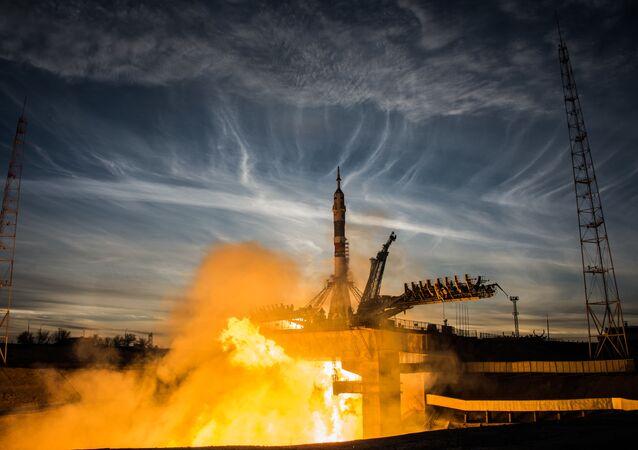 اطلاق صاروخ حامل سويوز - إف غا وصاروخ سويوز إم إس-11 من مركز بايكانور الفضائي، 3 ديسمبر 2019