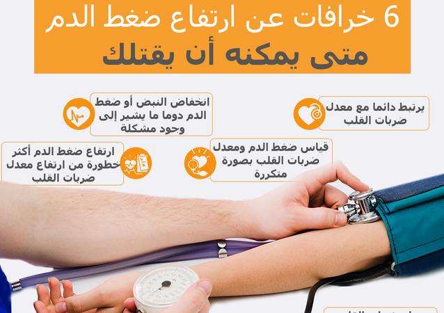 إنفوجراف.. خرافات منتشرة عن ضغط الدم