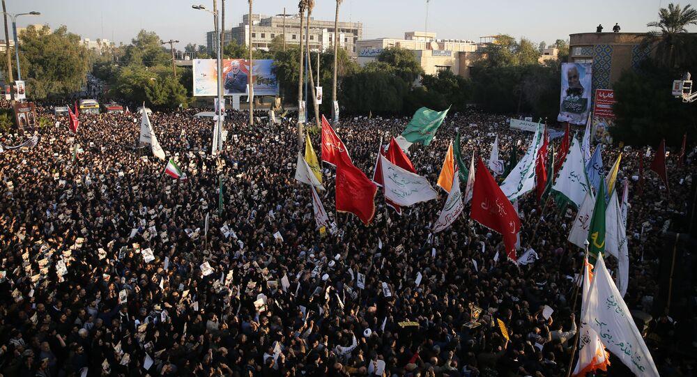 تشيع جثمان قاسم سليماني في الأهواز في إيران