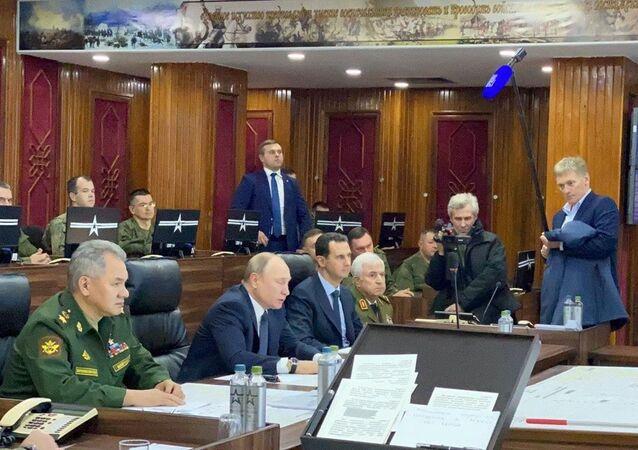 الرئيس الروسي فلاديمير بوتين مع الرئيس السوري بشار الأسد