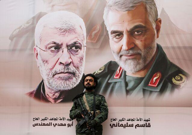 قاسم سليماني وأبو مهدي المهندي، طهران 6 يناير 2019
