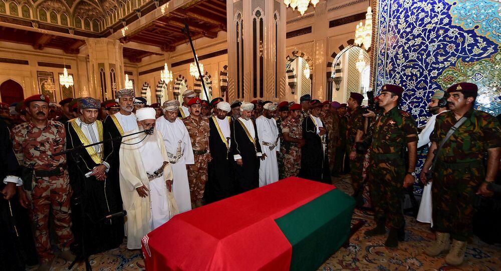 جنازة السلطان قابوس في مسقط