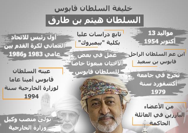 إنفوجراف... من هو سطان عمان الجديد هيثم بن طارق
