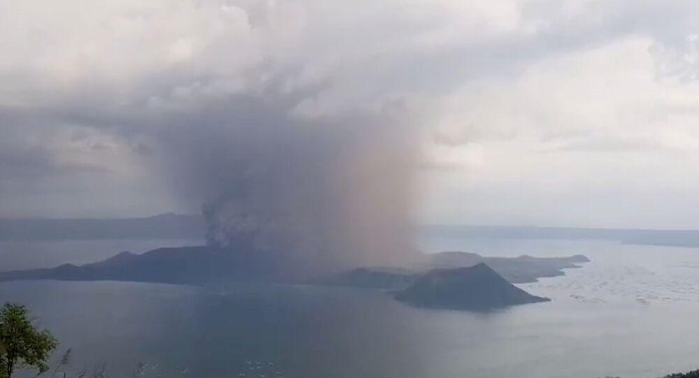 نشاط بركاني في الفلبين