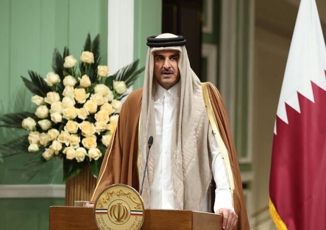 أمير قطر الشيخ تميم بن حمد آل ثاني في طهران