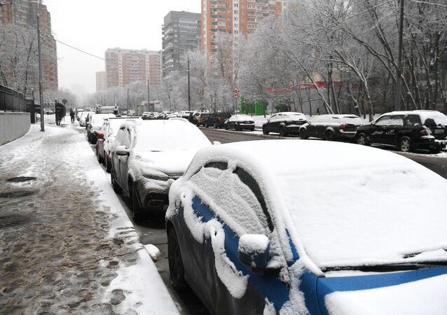 سقوط ثلوج في موسكو، 11 يناير 2020
