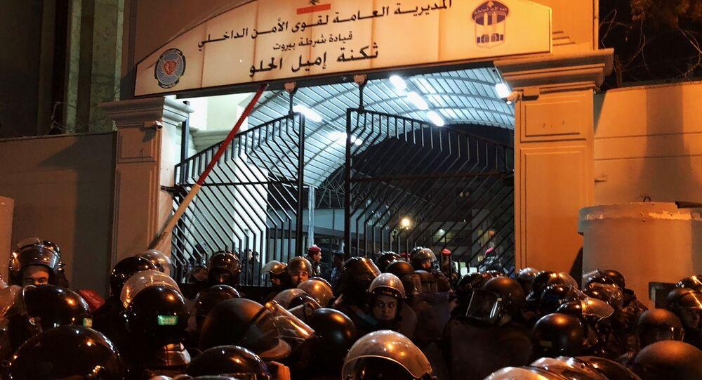 احتجاجات بيروت، قوى الأمن الداخلي، قوات الأمن، القوات الأمنية، الشرطة، لبنان 15 يناير 2020