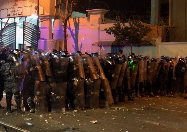 احتجاجات بيروت، قوات الأمن، القوات الأمنية، الشرطة، لبنان 15 يناير 2020