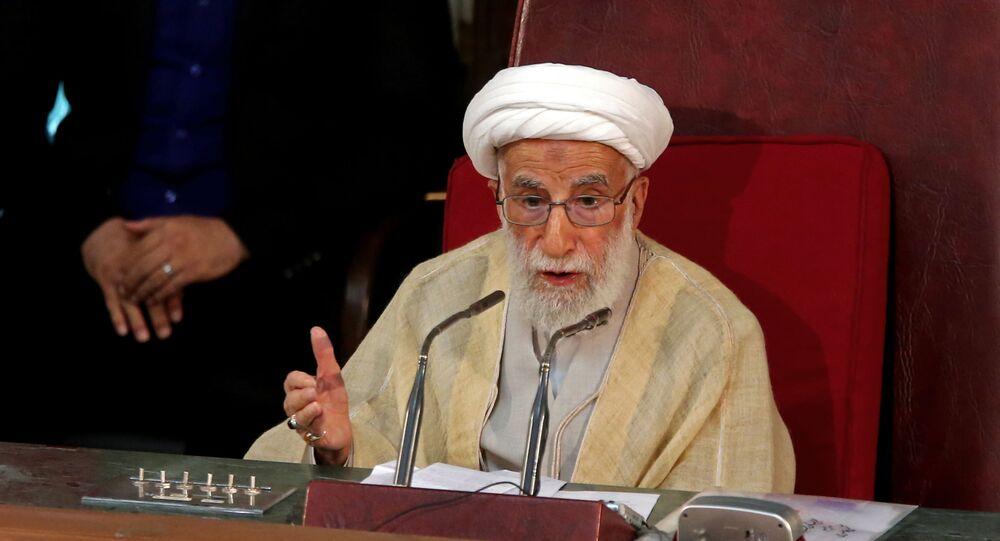 رئيس مجلس خبراء القيادة في إيران اية الله أحمد جنتي