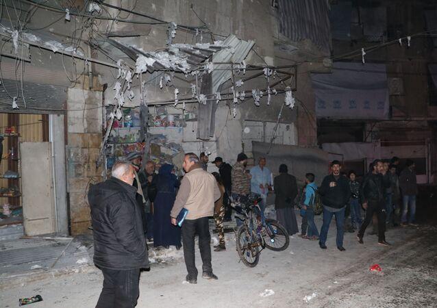 تنظيم جبهة النصرة الإرهابي يقصف حلب