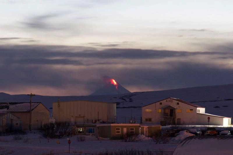 ثوران بركان شيشالدين  في ألاسكا