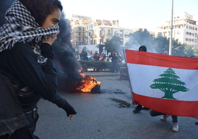 احتجاجت بيروت، لبنان 20 يناير 2020