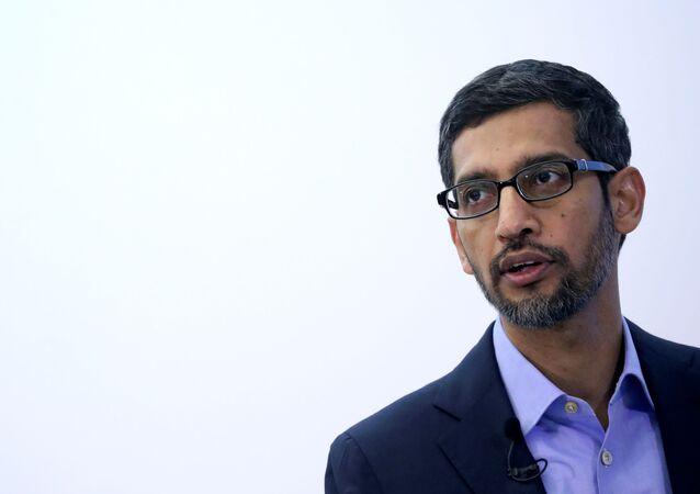 الرئيس التنفيذي لشركة ألفابت (الشركة الأم لغوغل) الأمريكية سوندر بيشاي