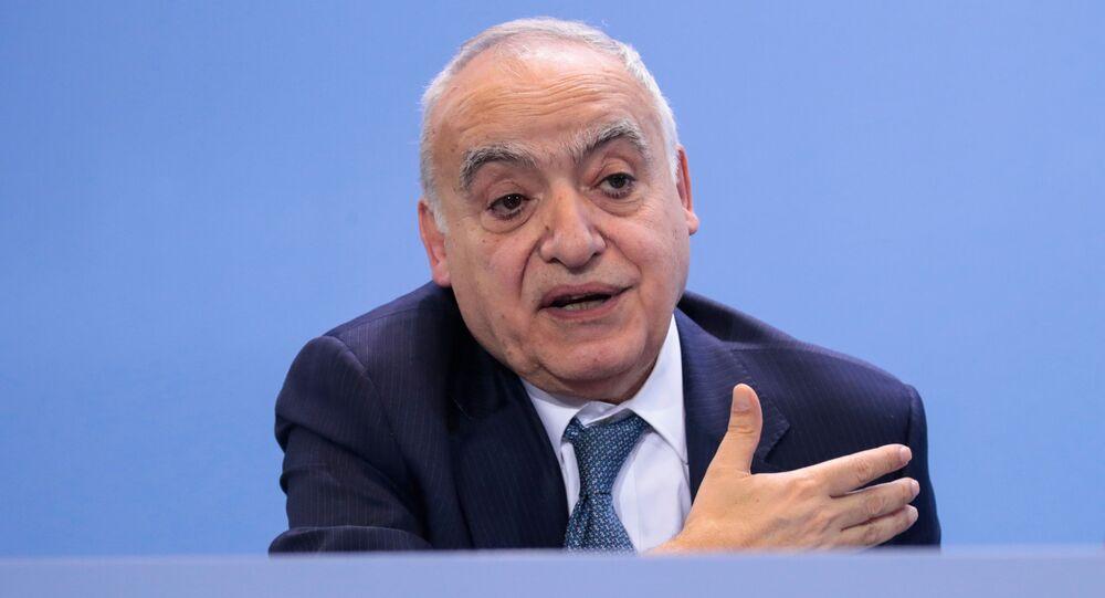 المبعوث الأممي الخاص إلى ليبيا، غسان سلامة في مؤتمر برلين
