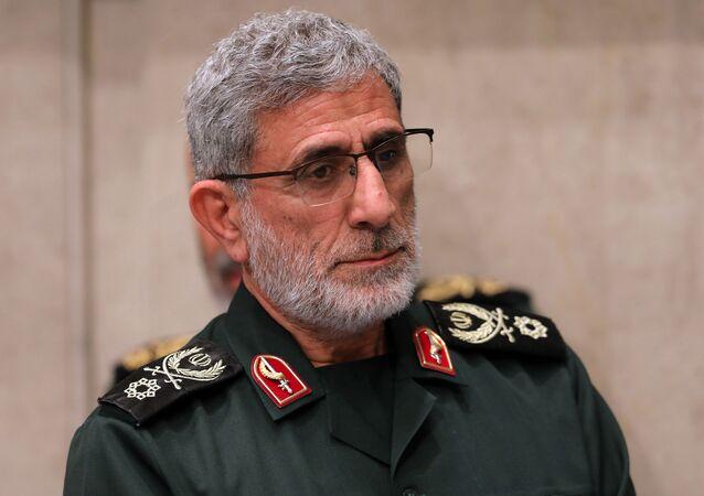 قائد قوات فيلق القدس التابع للحرس الثوري الإيراني العميد اسماعيل قاآني