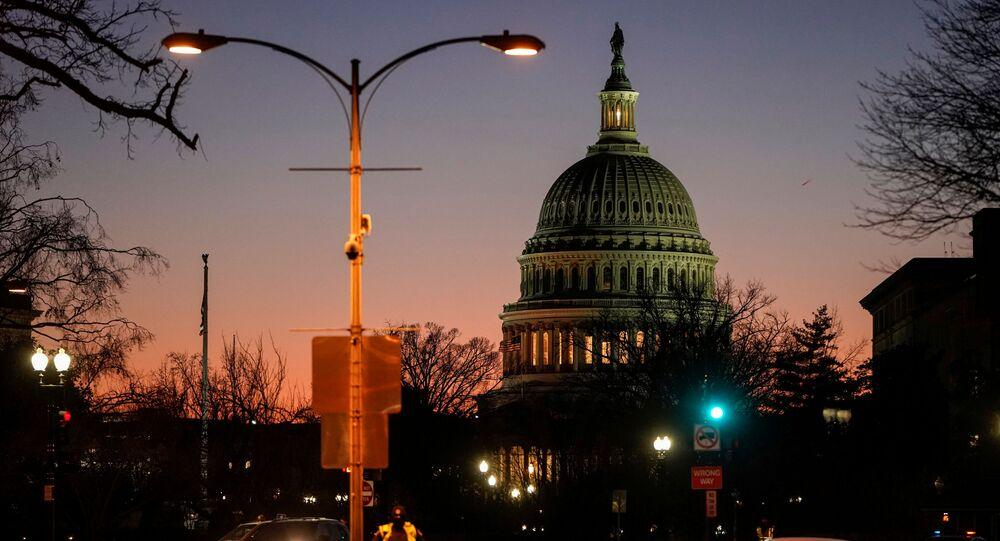 محاكمة الرئيس الأمريكي دونالد ترامب - مجلس الشيوخ، عزل ترامب، كابيتول، واشنطن، 21 يناير 2020