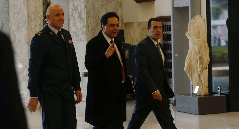 رئيس الوزراء اللبناني حسان دياب