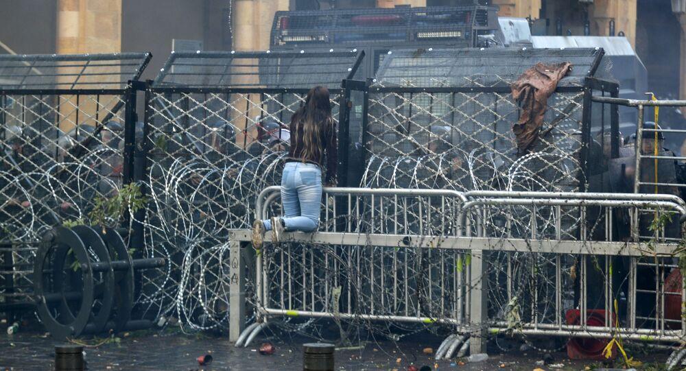 استمرار الاحتجاجات في بيروت، لبنان 18 يناير 2020