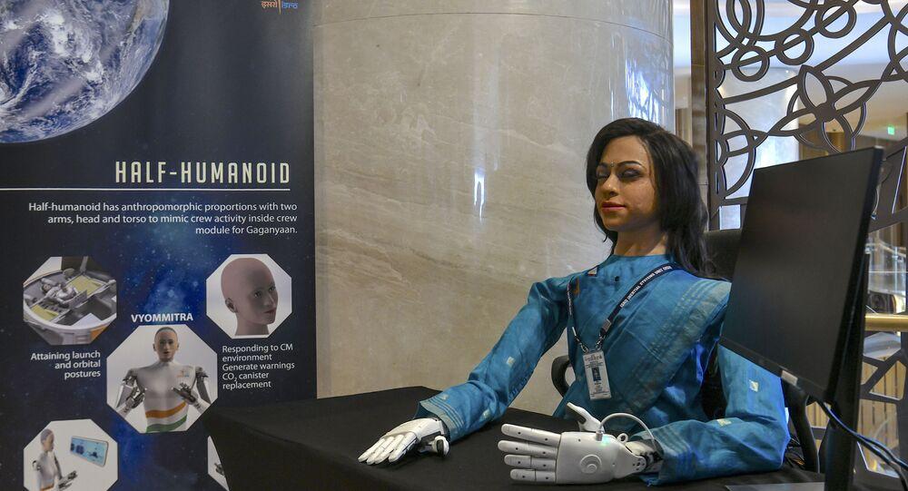 الروبوت البشري النصفي فيوميترا من إنتاج وكالة الفضاء الهندية، 23 يناير/ كانون الثاني 2020