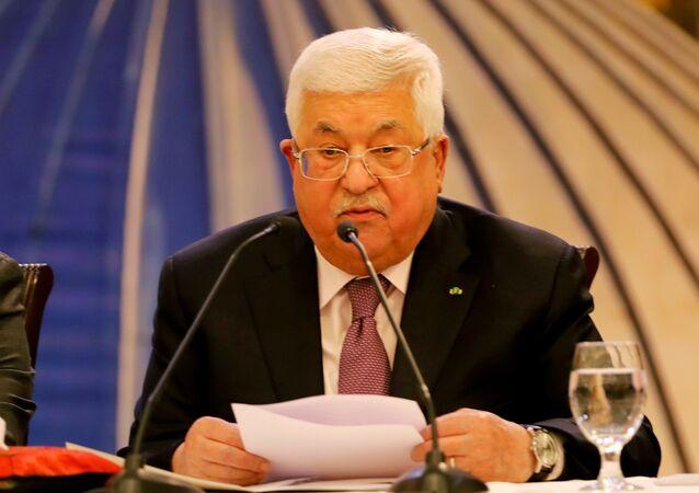 الرئيس الفلسطيني محمود عباس عقب إعلان صفقة القرن، رام الله 28 يناير 2020