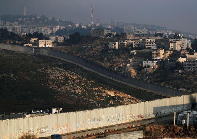 احتجاجات عقب إعلان صفقة القرن، بلدة أبو ديس، الضفة الغربية 29 يناير 2020