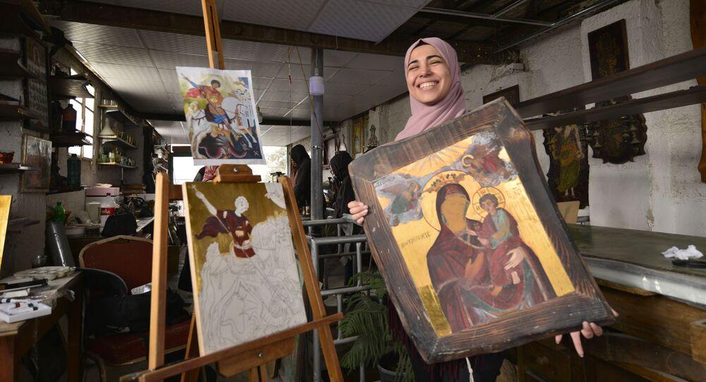 الفتاة المسلمة التي اعتنقت فن الأيقونة البيزنطية