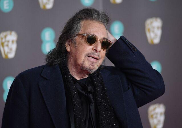 الممثل الأمريكي، آل باتشينو، في حفل جوائز بافتا للسينما والتلفزيون، قاعة رويال ألبرت، لندن، 2 فبراير/ شباط 2020