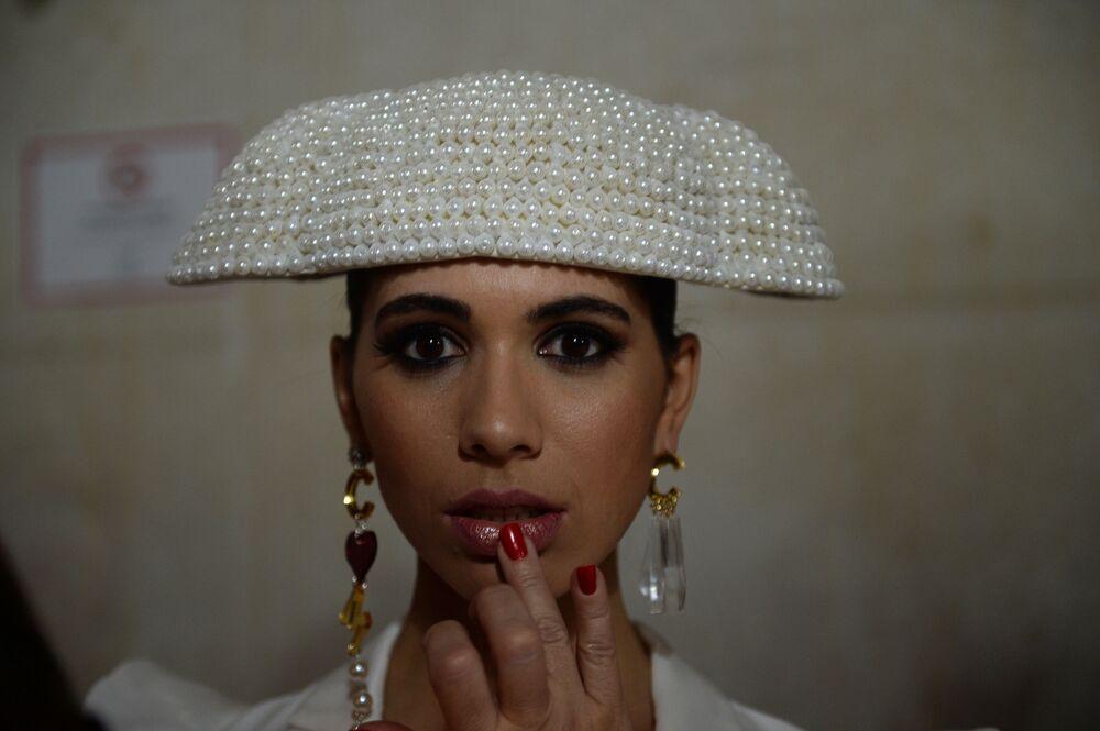 عرض أزياء الفلامنكو الدولي (سيموف) (International Flamenco Fashion Show (SIMOF)) في إشبيلية، إسبانيا في 1 فبراير 2020