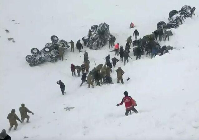انهيار جليدي في تركيا