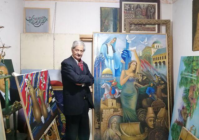 فنان سوري يعود من الاغتراب ويحول مرسمه الخاص إلى مدرسة مجانية لتعليم الرسم في مدينة الحسكة