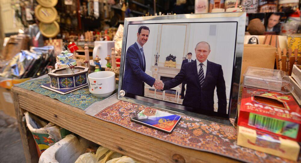 سبوتنيك ترصد المواقع التي زارها بوتين والأسد في دمشق القديمة