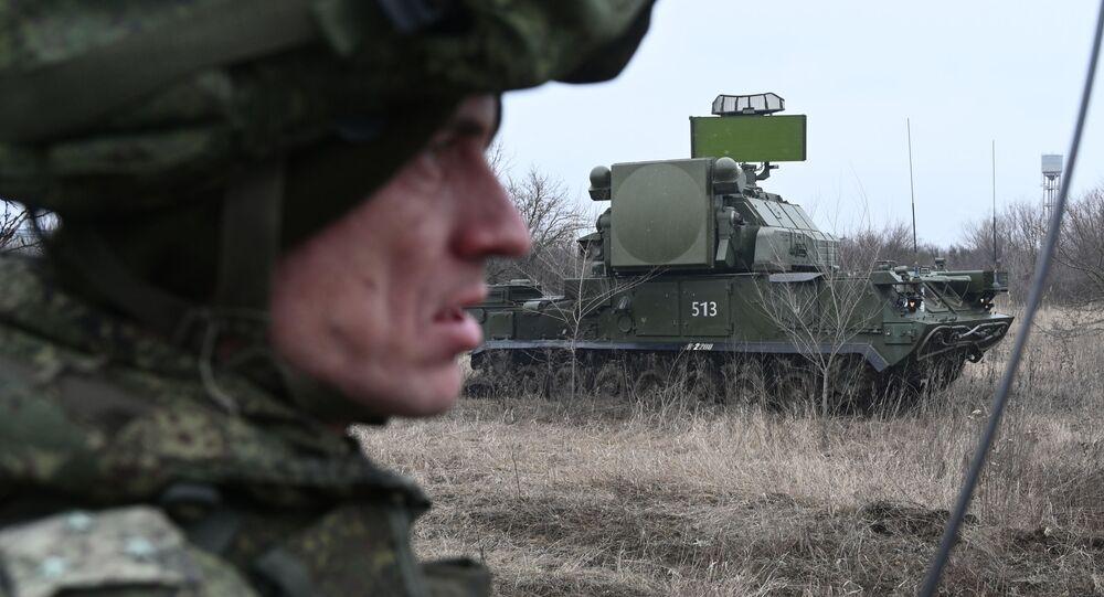 منظومة صواريخ تور المضادة للطائرات خلال المناورات التكتيكية في المنطقة العسكرية لجنوب روسيا في منطقة روستوف الروسية، 5 فبراير 2020