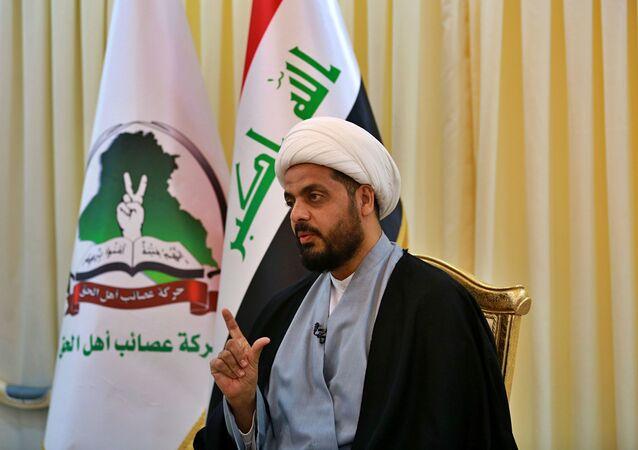 الأمين العام لحركة عصائب أهل الحق الشيخ قيس الخزعلي