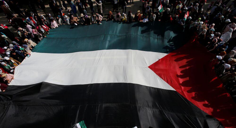 مظاهرة في المغرب ترفض صفقة القرن، الأحد 9 فبراير/ شباط