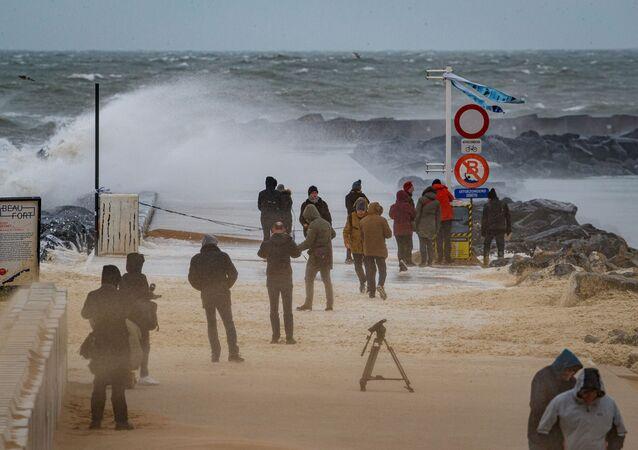 إعصار سيارا، أمطار و ثلوج، في أوروبا، بلجيكا 10 فبراير 2020