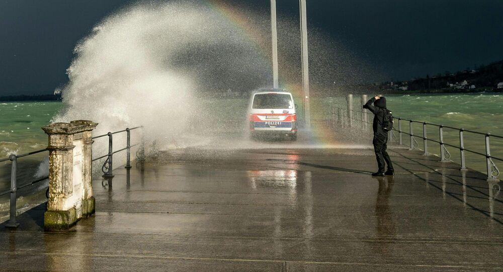 إعصار سيارا، أمطار و ثلوج، في أوروبا، ألمانيا 10 فبراير 2020