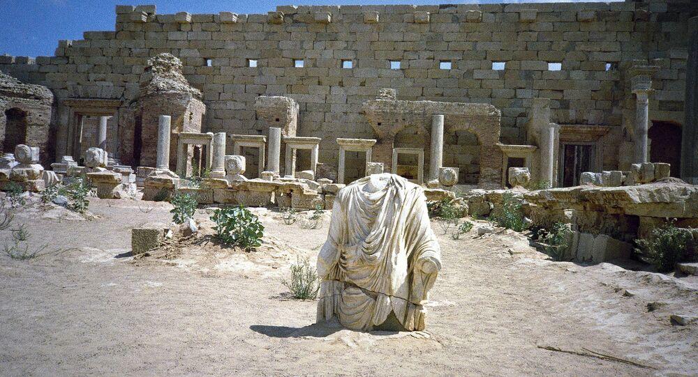 موقع لبدة الأثري (لبتس ماغنا) في ليبيا