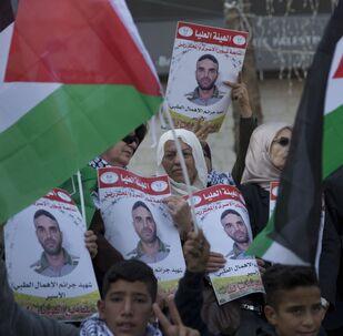 مظاهرات في رام الله، الضفة الغربية، للإفراج عن الأسرى 2019