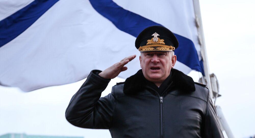 القائد العام للقوات البحرية الروسية، نيكولاي إيفمينوف