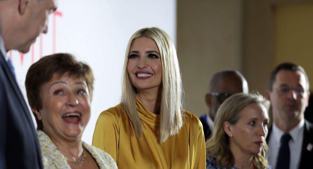 إيفانكا ترامب في مؤتمر المرأة العالمي في دبي 2020، الإمارات العربية المتحدة، 16 فبراير/ شباط 2020