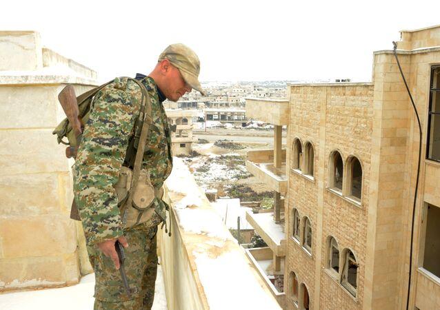 معرة النعمان بعد تحريرها من قبل الجيش السوري، سوريا