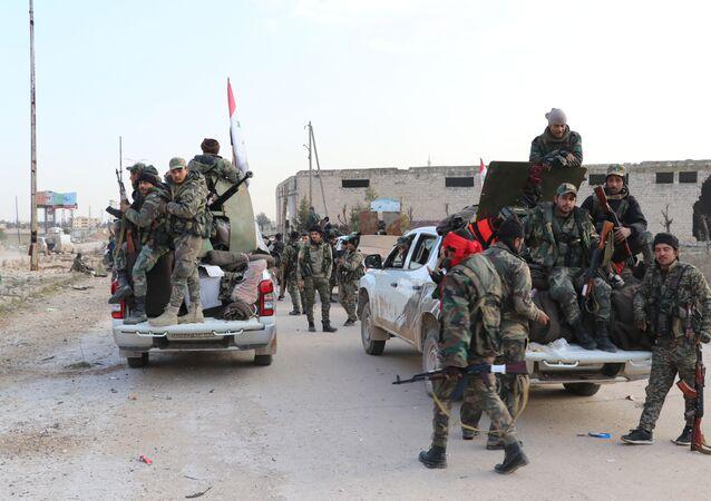 الجيش السوري في ريف حلب بعد تحريره