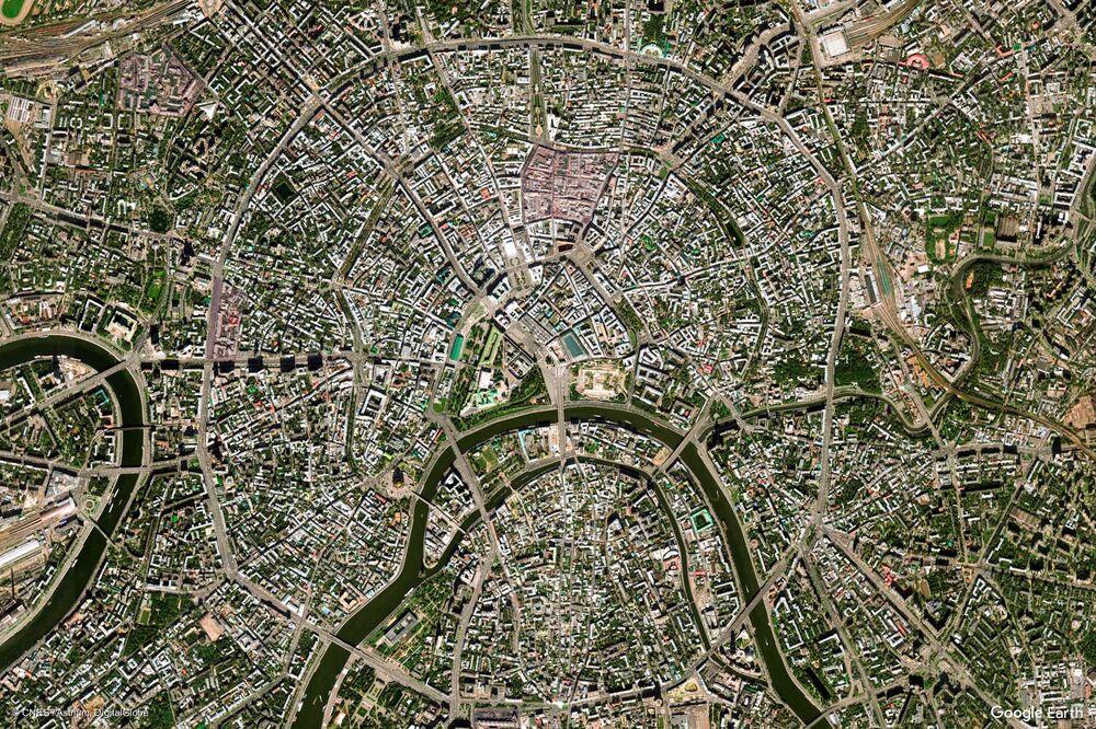 صورة لموسكو من الفضاء، روسيا