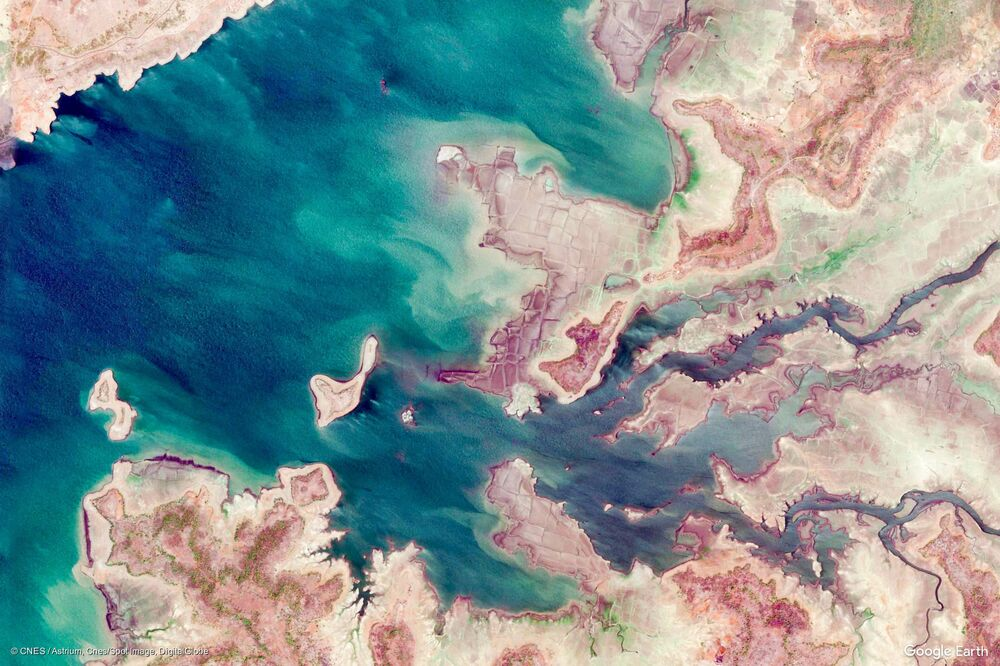 صورة من الفضاء لأحياء مدينة ديوري في ولاية مادهيا براديش، الهند
