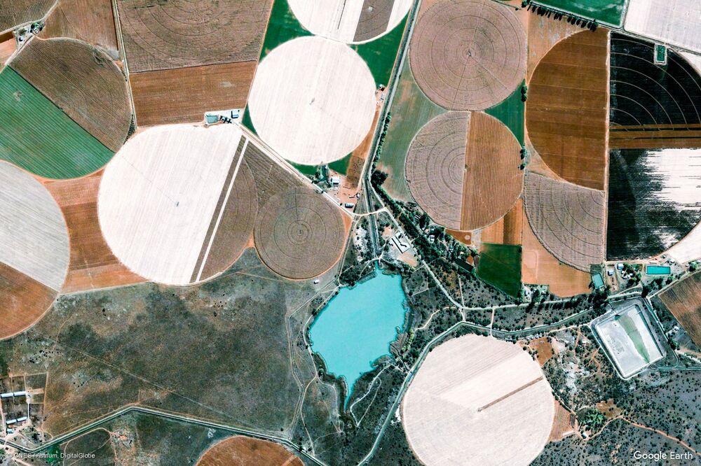 صورة من الفضاء لجنوب أفريقيا