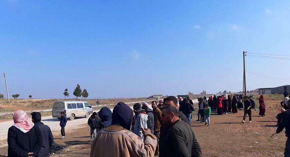 المزارع المحيطة بقاعدة لايف ستون الأمريكية بريف الغربي لمدينة الحسكة، سوريا