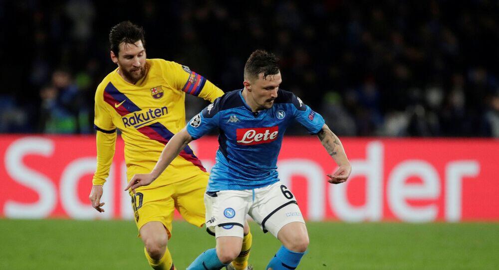 مباراة نابولي وبرشلونة (1-1) في دوري أبطال أوروبا