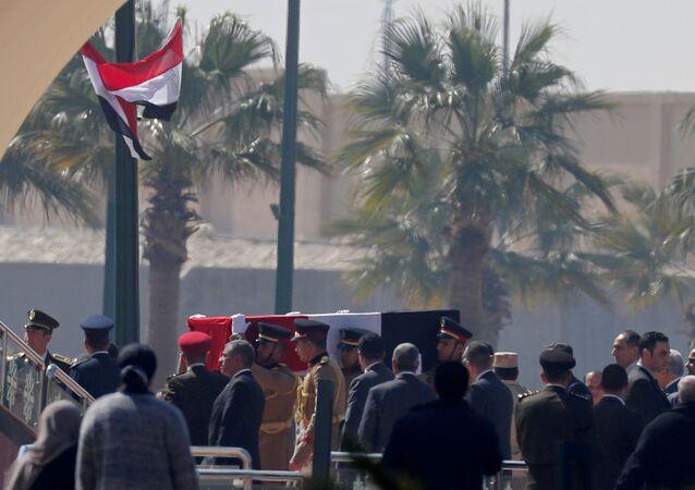 جنازة الرئيس المصري الراحل مبارك