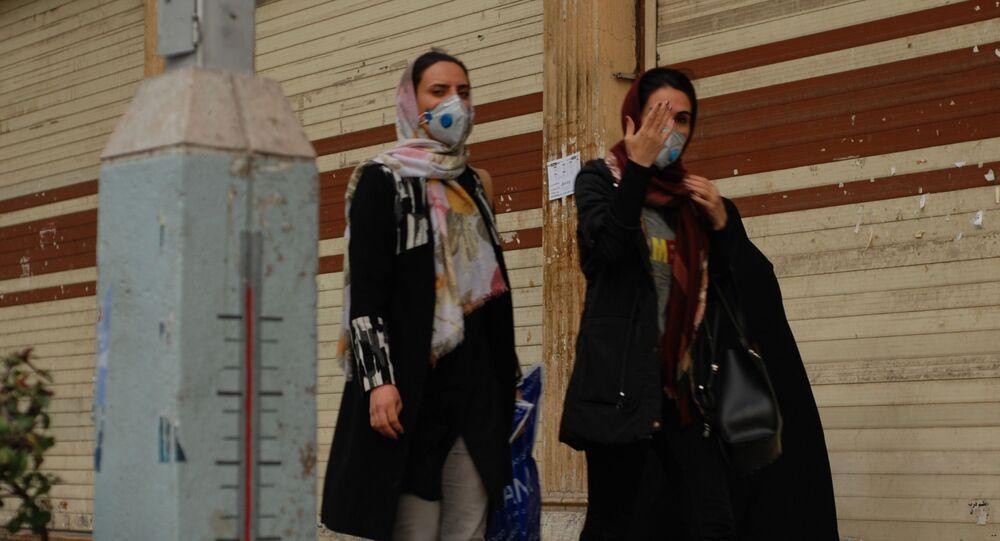 الوضع في إيران بسبب فيروس كورونا