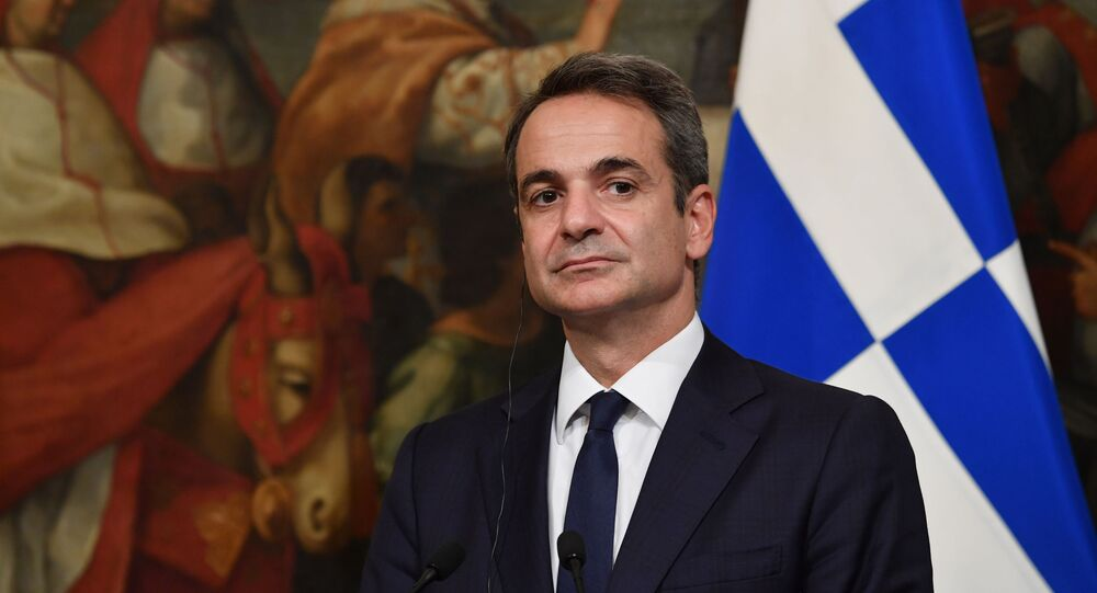 رئيس الوزراء اليوناني كيرياكوس ميتسوتاكيس
